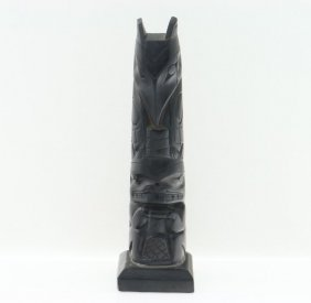 19th Century Haida Argillite Pole