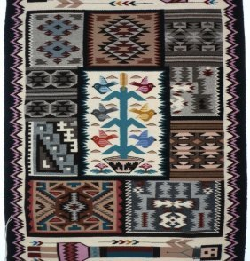 Navajo Pictorial Sampler Rug