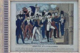 Two Napoleonic Hand Colored Prints