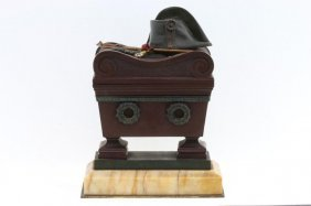 A Napoleonic Bronze Box In The Form Of Napoleons Tomb