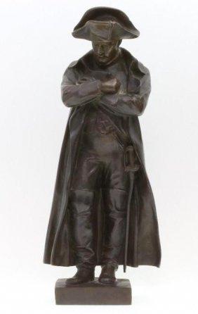 French Patinated Bronze Figure Of Napoleon, Chavane