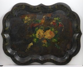 A Painted Tole Tray, 19th Century