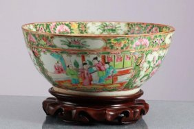 Large Chinese Famille Rose Medallion Bowl