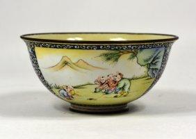 Chinese Enamel Bronze Bowl