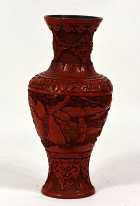 Chinese Lacquered Cinnabar Vase