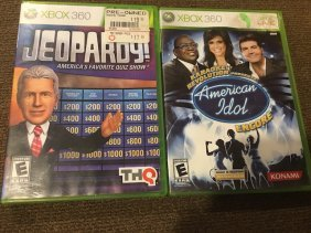 Lot Of 2 Xbox 360 Games Jeopardy And American Idol