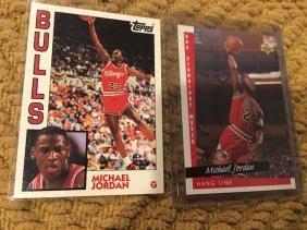 Michael Jordan Topps Archives And Hangtime Insert Card
