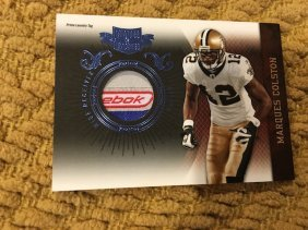 Marques Colston 2010 Plates And Patches Reebok Patch
