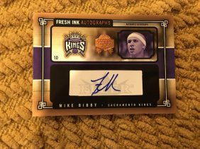 Mike Bibby Fresh Ink Autographs Numbered To 199
