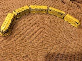 Midge Toy Yellow Train Set Metal Vintage Toy