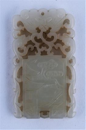 Jade Pendant. China. 19th Century. Stone Of A Grey