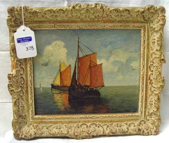 378: W. Hillman Signed Oil Painting : Lot 378