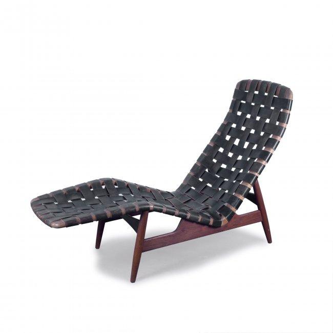 arne vodder chaise longue c1950 h 92 x 58 x 146 cm lot 154. Black Bedroom Furniture Sets. Home Design Ideas