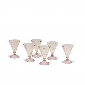 Six Sweet Wine Glasses, C1925