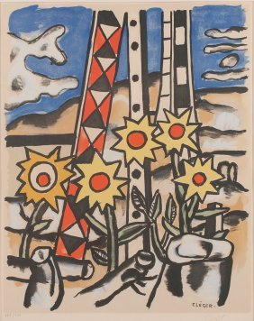 'composition With Sunflowers', 1950/1955 (after)