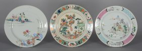 Two Chinese Famille Rose Plates, Decorated With
