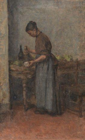 Van Lier J., A Genre Scene, Oil On Canvas, 50 X 80 Cm
