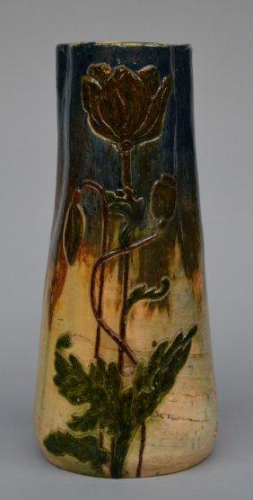 An Art Nouveau-style Vase In Typical Flemish