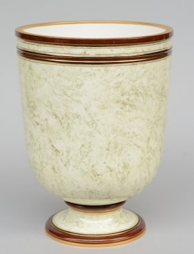 Asèvres Vase Decorated With Gold And Marble