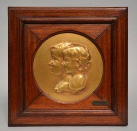 Matton A., 'souhait De Roi', A Bronze Relief Plaque In