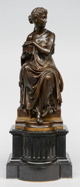 Aizelin E., Pandora, F. Barbedienne Fondeur, Bronze On