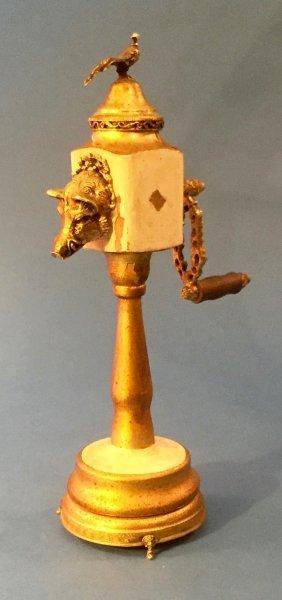 Vintage Swiss Reuge Boar's Head Peppermill Music Box