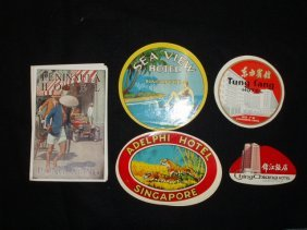 1930's-60's Hotel Luggage Labels
