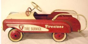 1950's AMF Firestone Tire Service Pedal Car