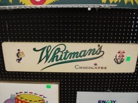 1950's Whitman's Chocolates Wood Sign