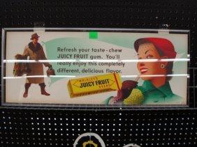 1950's Juicy Fruit Gum Display Sign