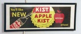 1950's Apple Kist Beverage Framed Sign