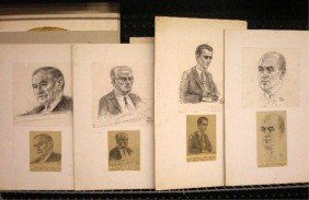 Freda Reiter Signed Courtroom Art Drawings