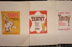 1960's Tawny Beer Ad Campaign Designs