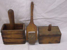 19th C. Butter Molds & Springerle Roller