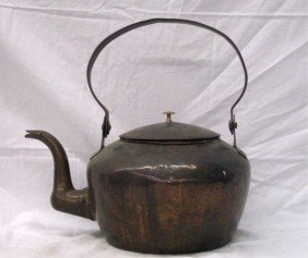 Antique Copper Tea Kettle