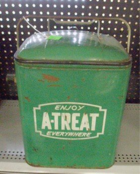 Vintage A-Treat Soda Cooler