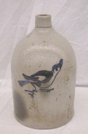 Antique Decorated Stoneware Jug