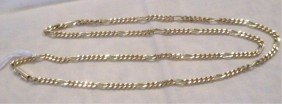 14k YG Figaro Style Link Chain