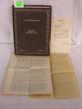 Union League Testimonial Guest Book