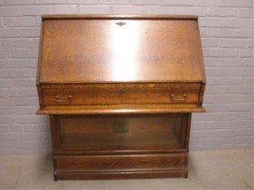 Globe-Warnicke Oak Cabinet Desk