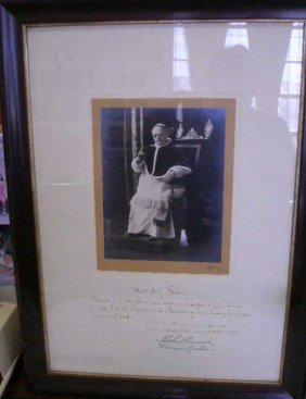 Pope Pius XI Presentation Photograph