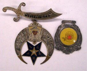 Shriners Temple Pin & Fob
