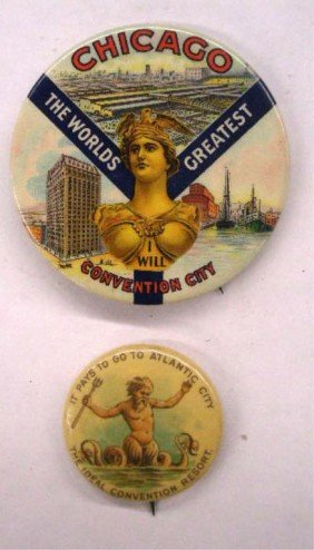 Early 20th C. Chicago & Atlantic City Pins