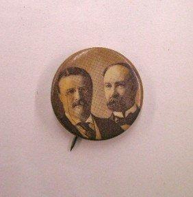 "1904 Roosevelt/Fairbanks 7/8"" Jugate Pin"