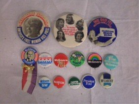 1960's & 1970's Political Pins & Buttons