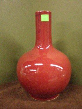 Chinese Flambe Glazed Porcelain Vase