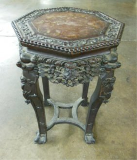 Rosewood Chinese Plant Stand