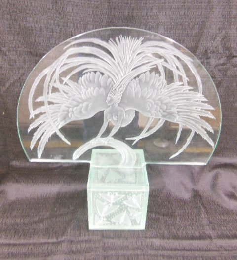 reproduction lalique oiseau de feu firebird plaque lot 245. Black Bedroom Furniture Sets. Home Design Ideas