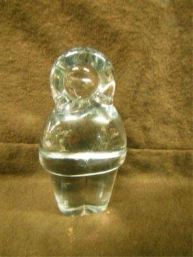Holmeghard Crystal Eskimo Figure