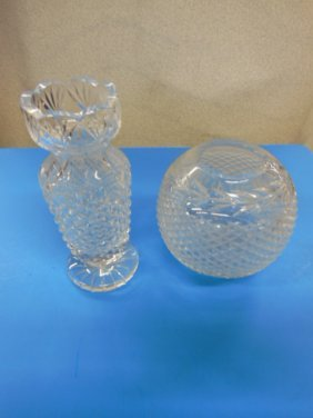 Waterford Crystal Vase And Rose Bowl